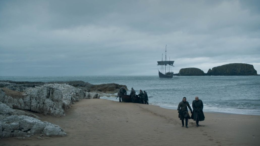 Dragonstone beaches in Game of Thrones