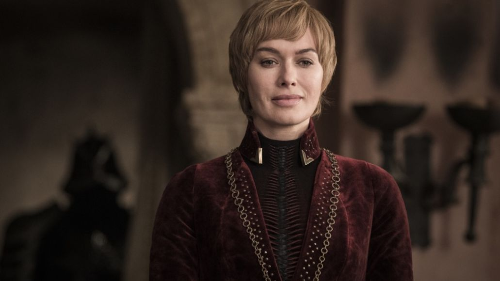 Cersei Lannister realizing her doom in Game of Thrones