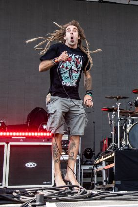 Randy Blythe with Gojira at Sonic Temple Festival