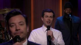 Mayor Pete Buttigieg on The Tonight Show Starring Jimmy Fallon slow jam the news