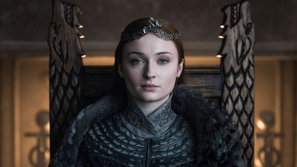 Sophie Turner in Game of Thrones (HBO) Queen of the North Fan Reaction