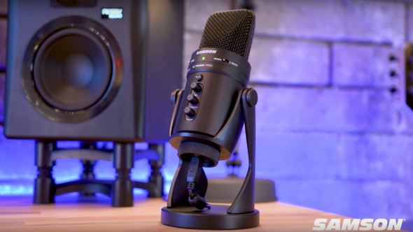 Win Samson's G-Track Pro all-in-one USB condenser mic, audio interface, and mixer
