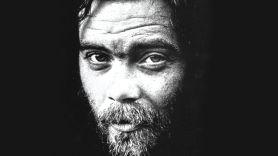 Roky Erickson, black and white portrait