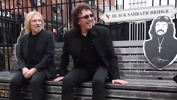 Geezer Butler and Tony Iommi on Black Sabbath Bridge