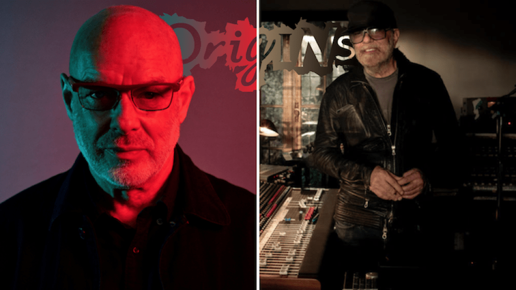 Brian Eno photo by Shamil Tanna Daniel Lanois Marthe Vannebo Capsule Origins new song stream apollo atmospheres and soundtracks