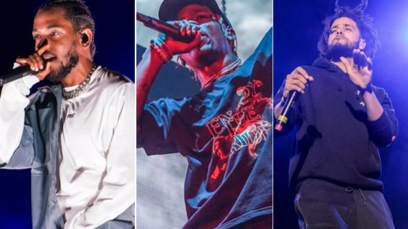 Kendrick Lamar (David Brendan Hall), Travis Scott (Amy Price), J. Cole (Ben Kaye)