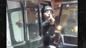 Lil Xan pulls gun at LA gas station