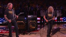 Metallica Perform National Anthem at NBA Finals Game