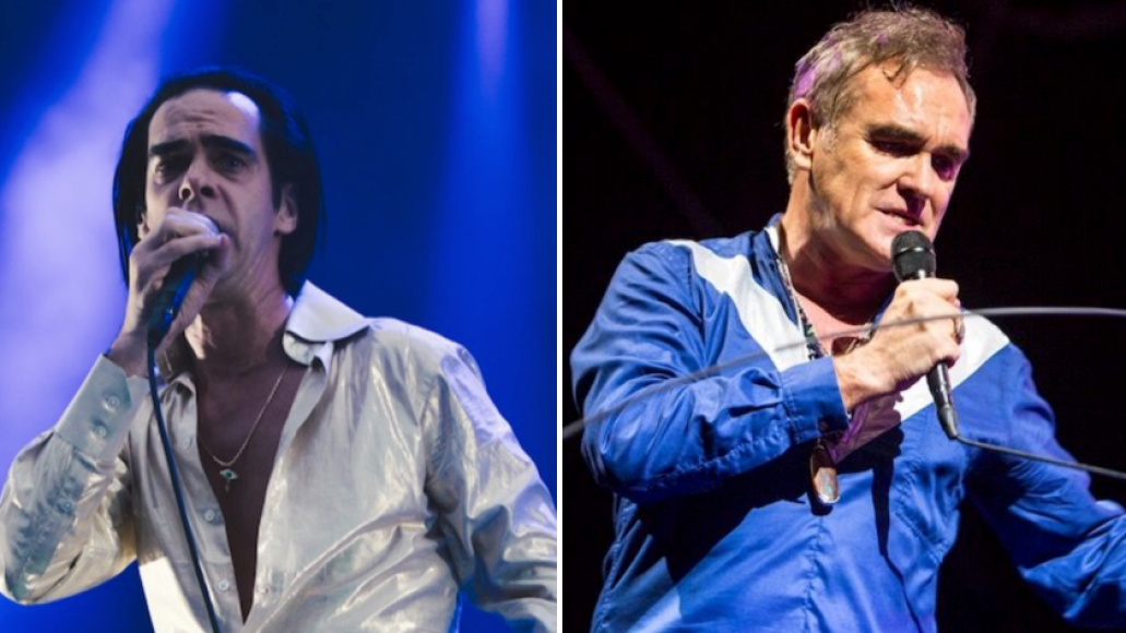 Nick Cave (Ellie Pritts) and Morrissey (Philip Cosores)