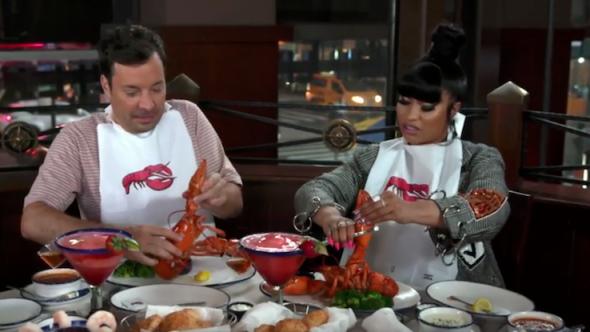 Nicki Minaj The Tonight Show Starring Jimmy Fallon Red Lobster