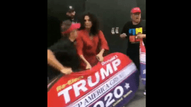 indya moore trump supporter dion cini fight nyc video