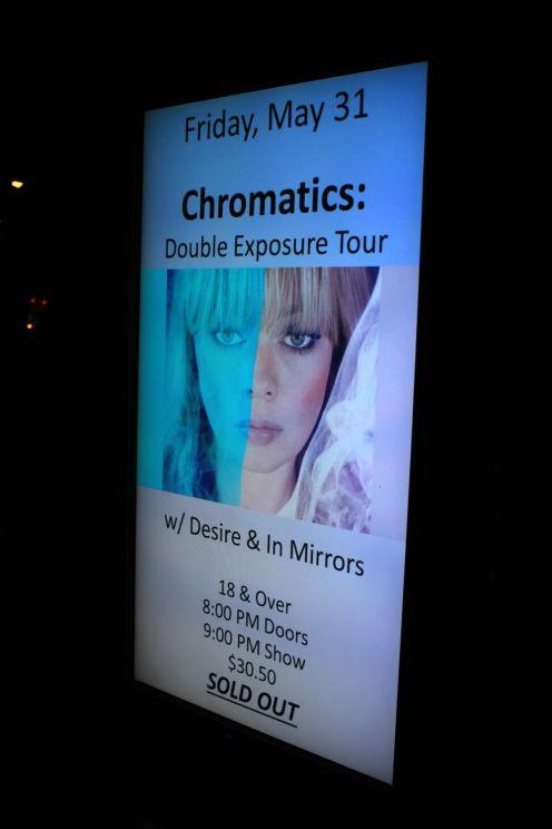 Chromatics at Chicago's Park West, photo by Heather Kaplan