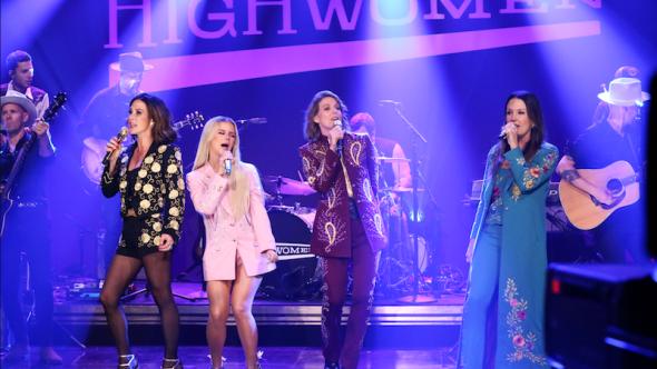 The Highwomen The Tonight Show starring Jimmy Fallon Redesigning Women Amanda Shires Maren Morris Brandie Carlile Natalie Hemby Andrew Lipovsky:NBC
