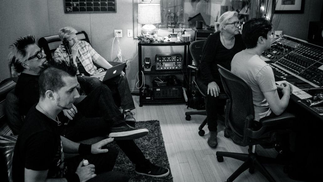 The Offspring and Bob Rock studio shot