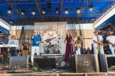 Chris Funk, Trey Anastasio, Janet Weiss, Rachael Price of Lake Street Dive, and Preservation Hall Jazz Band at If I Had a Song at Newport Folk Festival 2019 ben kaye