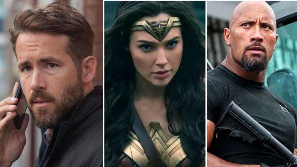 Ryan Reynolds, Gal Gadot, and Dwayne Johnson