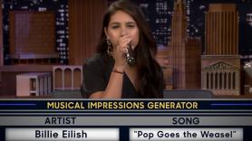 Alessia Cara sings as Billie Eilish on Fallon