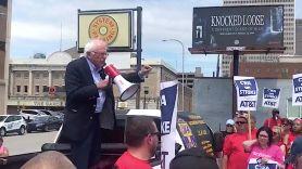 Bernie Sanders and Knocked Loose Billboard