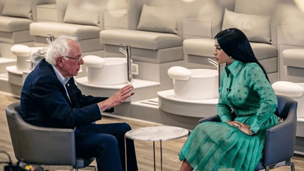 Cardi B and Bernie Sanders