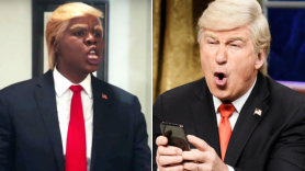 Leslie Jones and Alec Baldwin SNL
