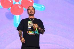 J Balvin at Lollapalooza 2019, photo by Heather Kaplan