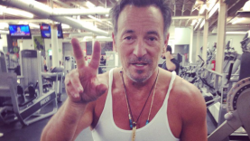 Bruce Springsteen at the gym