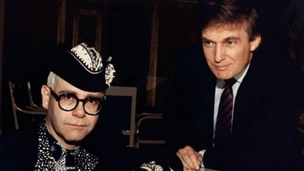 Elton John with Donald Trump