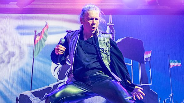Iron Maiden's Bruce Dickinson halts show fan altercation