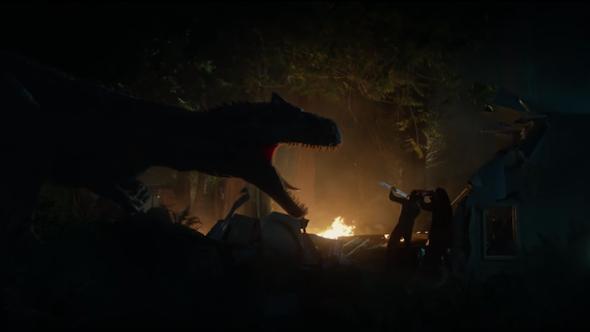 Jurassic world battle at big rock short film video watch