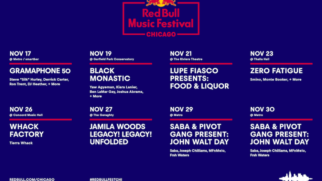 Red Bull Music Festival Chicago full lineup schedule