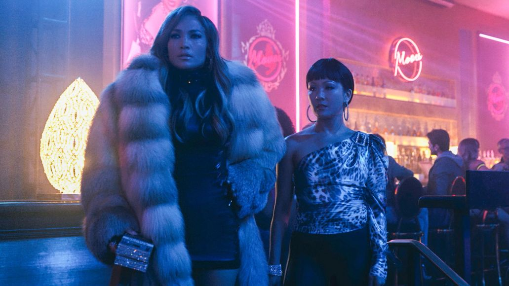 Jennifer Lopez and Constance Wu in Hustlers