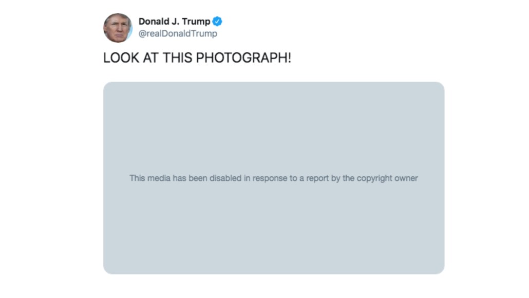 Donald Trump's deleted Nickelback meme