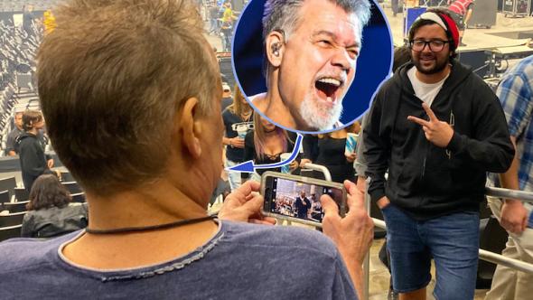 Eddie Van halen Tool fan photo