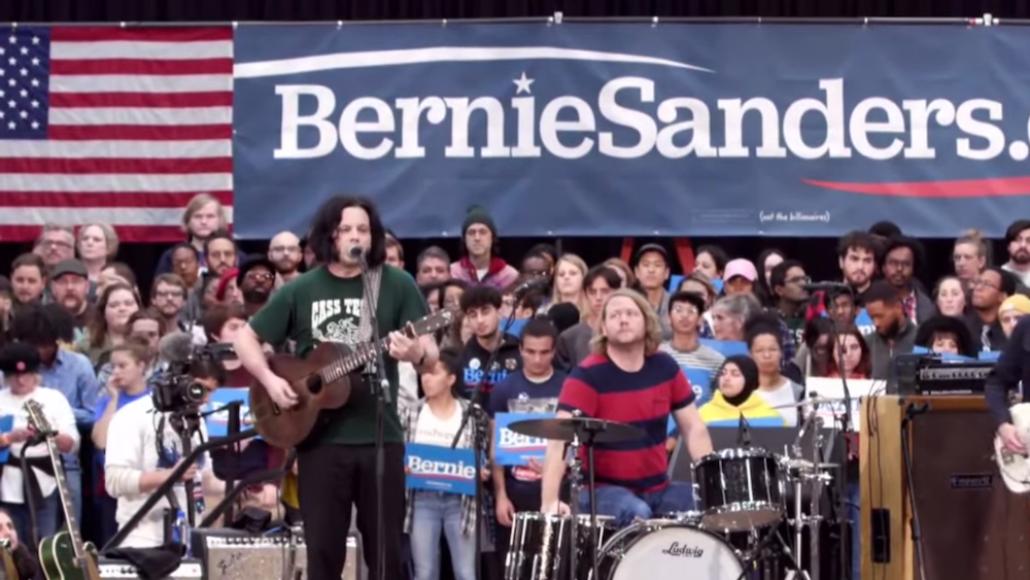 Jack White Bernie Sanders rally Detroit The White Stripes Bob Dylan cover