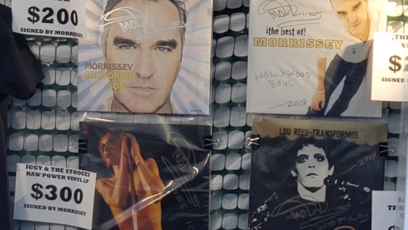 Morrissey signing other artists records david bowie iggy pop lou reed patti smith