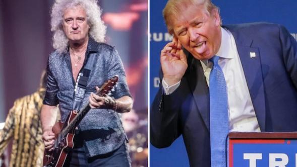 Queen Donald Trump Copyright We Will Rock You
