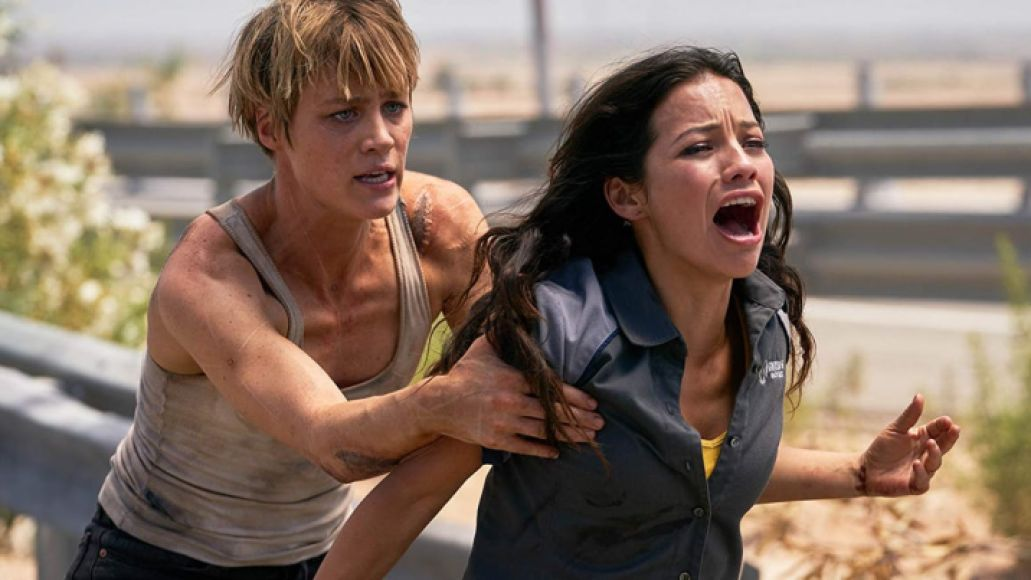Mackenzie Davis and Natalia Reyes in Terminator: Dark Fate (Paramount Pictures)