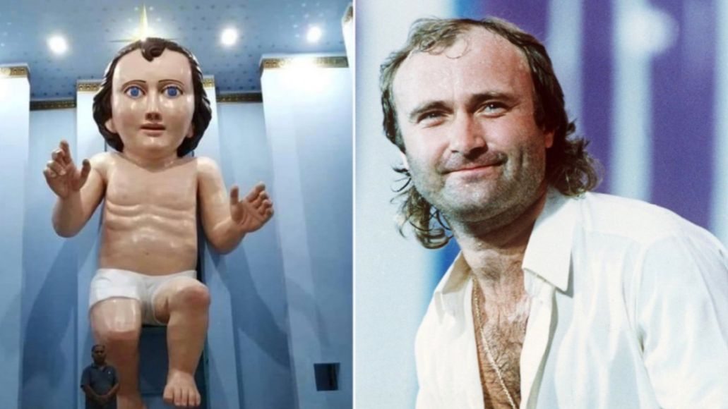 Baby Jesus and his Phil Collins lookalike