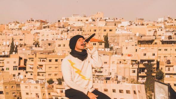 Coldplay performing in Jordan