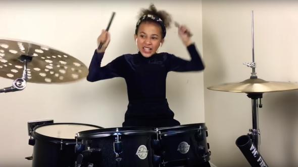 "Nine-year-old drummer Nandi Bushell drum cover ""In Bloom"" Nirvana viral"