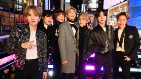 BTS performing at Dick Clark's New Year's Rockin' Eve