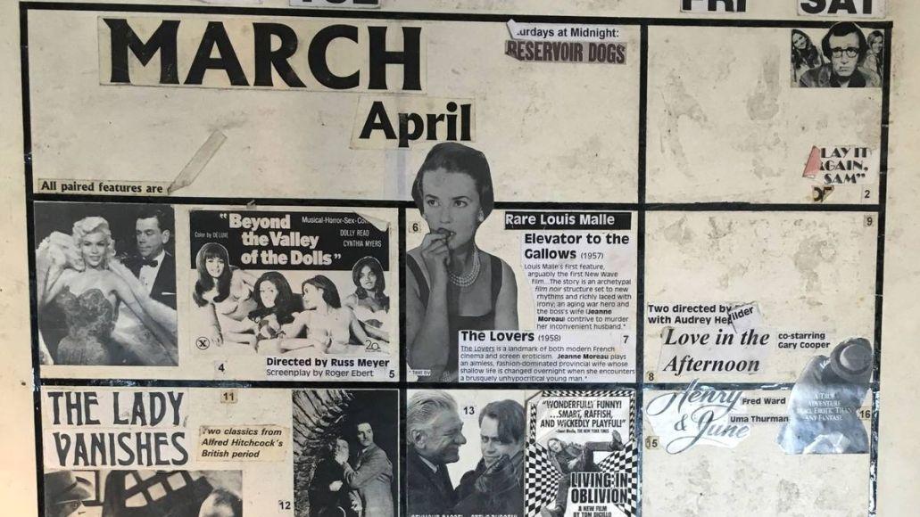 Calendar Board, New Beverly Cinema