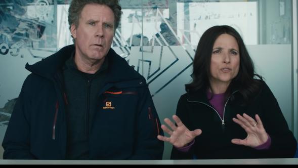 Julia Louis-Dreyfus Will Ferrell trailer Force Majeure remake Downhill trailer