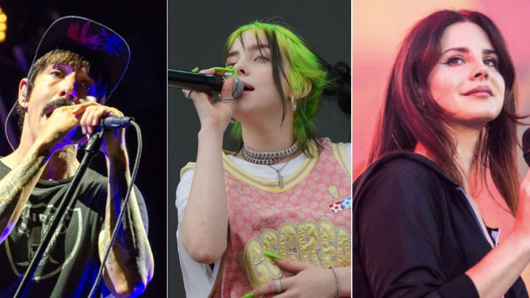 Red Hot Chili Peppers (Ben Kaye), Billie Eilish (Amy Price), Lana Del Rey (Philip Cosores)