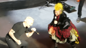 Black Flag cover Rise Above live Henry Rollins and Cyndi Lauper, screenshot from Brian James