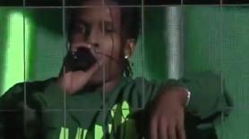 asap rocky cage jail sweden concert video