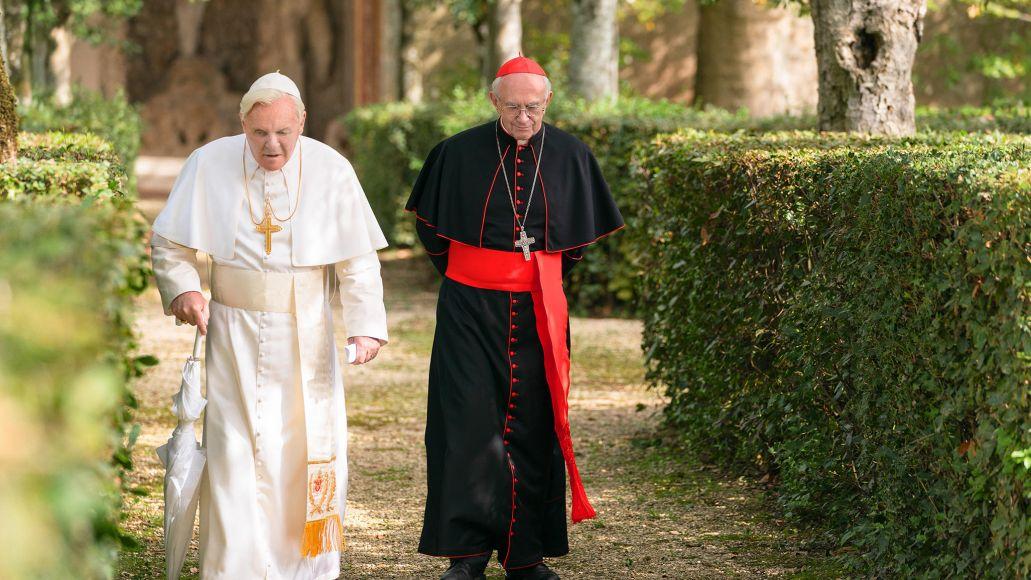 Netflix, The Two Popes, Jonathan Pryce, Anthony Hopkins