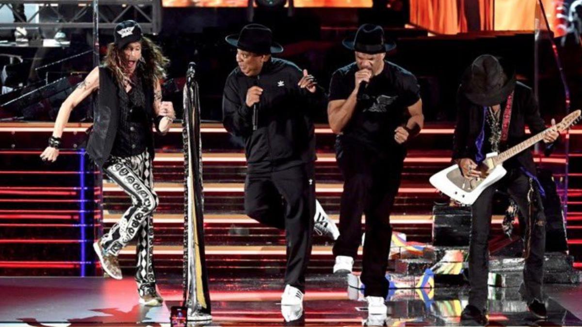 Watch Aerosmith And Run Dmc S Grammys Performance Of Walk This Way