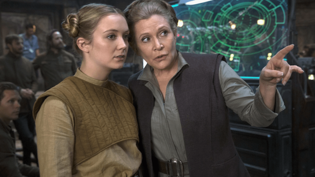 Billie Lourd Carrie Fisher Princess General Leia Star Wars The Rise of Skywalker