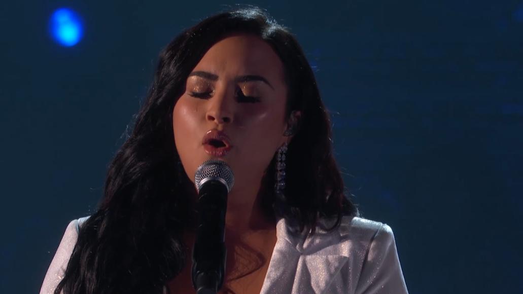 Demi Lovato Grammys 2020 anyone performance watch video